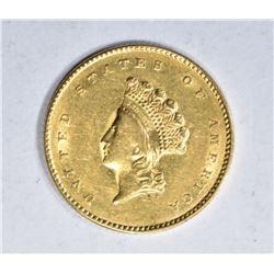 1855 TYPE-2 $1.00 GOLD, CH BU