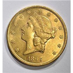 1896 $20.00 GOLD LIBERTY, BU