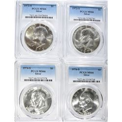 PCGS GRADED MS-66 SILVER EISENHOWER DOLLARS