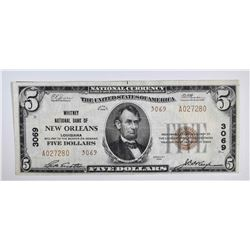 1929 $5 NATIONAL CURRENCY TYPE 2