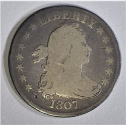 1807 BUST QUARTER VG MARKS ON OBV.