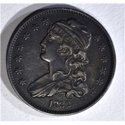 1832 BUST QUARTER XF DARK TONING