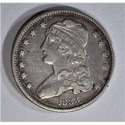 1833 BUST QUARTER VF