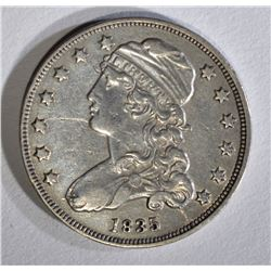 1835 BUST QUARTER XF DIE BREAK OBV.