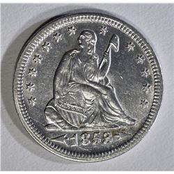1853 ARROWS AND RAYS QUARTER AU