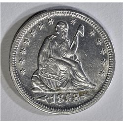 1853 ARROWS AND RAYS QUARTER AU