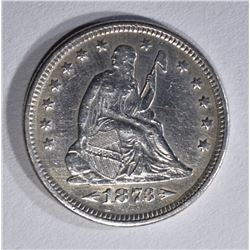 1873 ARROWS SEATED LIBERTY QUARTER XF/AU