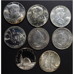 BU HALF DOLLAR LOT: 1942, 1958-D, 1966,