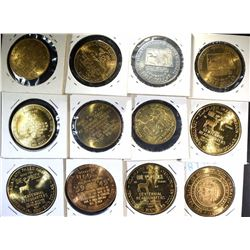 12-STATE  TOKENS: $1.00 OR 50-CENT IN TRADE