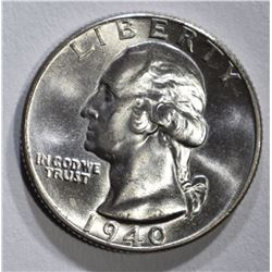 1940 GEM BU+ WASHINGTON QUARTER