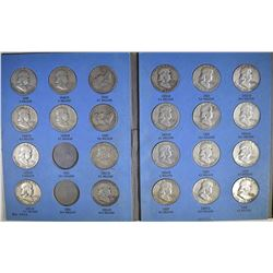 PARTIAL FRANKLIN HALF DOLLAR SET 33-DIFFERENT