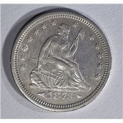 1873-S ARROWS SEATED QUARTER XF LIGHT SCRATCHES