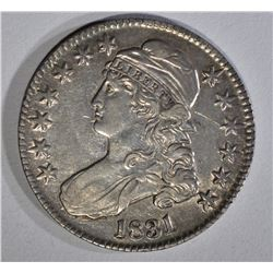 1831 BUST HALF DOLLAR AU LIGHT SCRATCHES