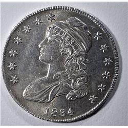 1834 BUST HALF DOLLAR AU/BU LIGHT SCRATCHES OBV.
