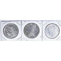 3 MORGAN DOLLARS:  1900-AU,