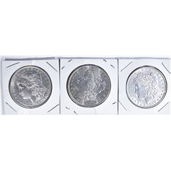 3 MORGAN DOLLARS:  1900-AU,