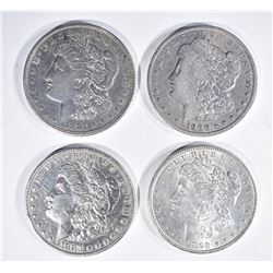 4 MORGAN DOLLARS:  1898 UNC, 1883 XF,