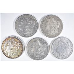 4 MORGAN DOLLARS:  1891 VF, 1889-O VG,
