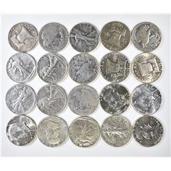 $10.00 FACE VALUE SILVER HALVES 1964 & EARLIER