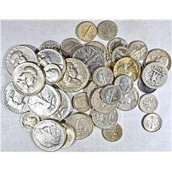 $10.00  FACE VALUE 90% SILVER COINS 1964 & EARLIER