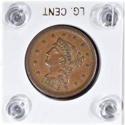 1853 LARGE CENT  XF+