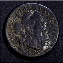1802 DRAPED BUST LARGE CENT, VG porosity
