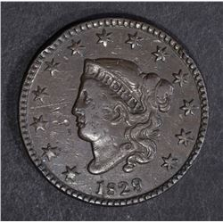 1829 LARGE CENT VF MARKS