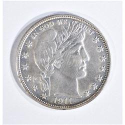 1911 BARBER HALF DOLLAR, BU