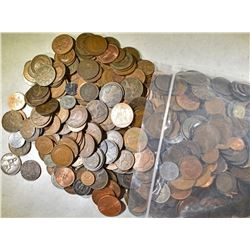 21-POUNDS WELL MIXED FOREIGN COINS