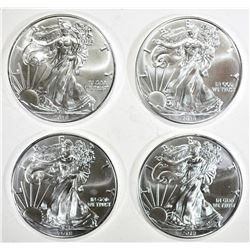 4-GEM BU 2018 AMERICAN SILVER EAGLES