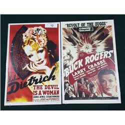 BUCK ROGERS & THE DEVIL IS A WOMAN MOVIE POSTERS