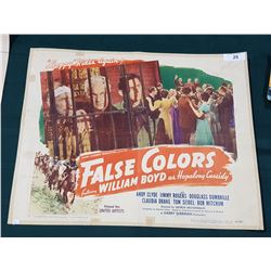 """ORIGINAL 1943 """"FALSE COLORS"""" MOVIE POSTER"""