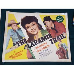 """ORIGINAL 1944 """"THE LARAMIE TRAIL"""" MOVIE POSTER"""