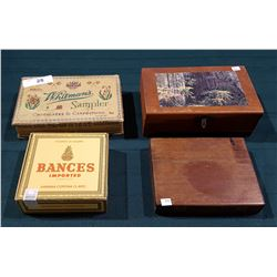 FOUR VINTAGE BOXES