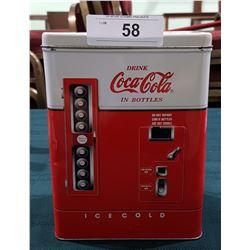 COCA COLA VENDING MACHINE TIN