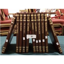 11 VOLUMES OF THE OLD WEST SERIES BOOKS