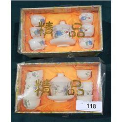 2 ASIAN TEA SETS IN ORIGINAL BOXES