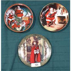 3 CHRISTMAS COLLECTOR PLATES