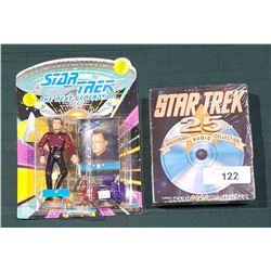 "STAR TREK ""Q"" ACTION FIGURE & 25TH ANNIVERSARY DISC"