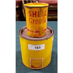 TWO VINTAGE SHELL GREASE CANS