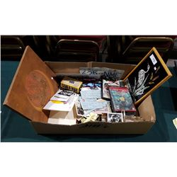 LARGE BOX OF VINTAGE ITEMS