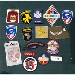 15 MILITARY PATCHES AND DECALS