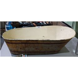 VINTAGE TIN BABY BATH TUB
