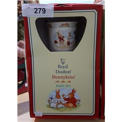 ROYAL DOULTON BUNNYKINS BABY SET IN UNOPENED BOX