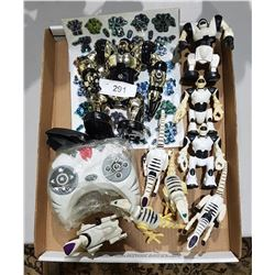 BOX LOT OF COLLECTIBLE ROBOTS ETC