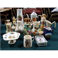 APPROX 15 PCS OF VINTAGE AND VICTORIAN PORCELAIN