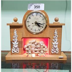 VINTAGE UNITED FIGURAL MANTLE CLOCK