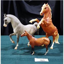 3 COLLECTIBLE BREYER HORSES