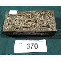VINTAGE DRAGON EMBOSSED JEWELERY BOX