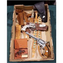 VINTAGE CAP GUNS AND BELTS